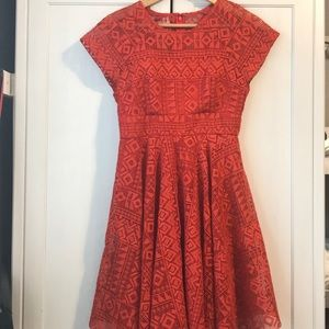 Anthropologie Maeve Prima Lace Dress Size 4